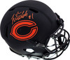Justin Fields Autographed Chicago Bears Eclipse Black Full Size Authentic Speed Helmet Beckett BAS QR Stock #194775
