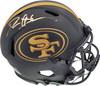 Deion Sanders Autographed San Francisco 49ers Eclipse Black Full Size Authentic Speed Helmet Beckett BAS QR Stock #194867