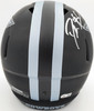 Deion Sanders Autographed Dallas Cowboys Eclipse Black Full Size Replica Speed Helmet Beckett BAS QR Stock #194869
