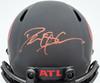 Deion Sanders Autographed Atlanta Falcons Eclipse Black Full Size Replica Speed Helmet Beckett BAS QR Stock #194872