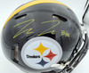 Pat Freiermuth Autographed Pittsburgh Steelers Black Full Size Authentic Speed Helmet Beckett BAS QR Stock #194875