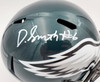 DeVonta Smith Autographed Philadelphia Eagles Green Full Size Replica Speed Helmet Beckett BAS QR Stock #194901