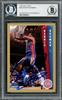 Dennis Rodman Autographed 1992-93 Fleer Card #66 Detroit Pistons Beckett BAS #13020221