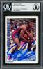 Dennis Rodman Autographed 1992-93 Hoops Card #66 Detroit Pistons Beckett BAS #13020279