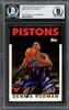 Dennis Rodman Autographed 1992-93 Topps Archives Card #86 Detroit Pistons Beckett BAS #13020707