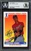Chipper Jones Autographed 1991 Score Rookie Card #671 Atlanta Braves Beckett BAS Stock #195166