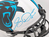 Sam Darnold Autographed Carolina Panthers Lunar Eclipse White Full Size Replica Speed Helmet Beckett BAS QR Stock #195172