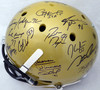 Heisman Trophy Winners Autographed Full Size Gold Helmet With 23 Signatures Including Barry Sanders, Marcus Allen & Derrick Henry Steiner Holo SS149888