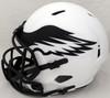 DeVonta Smith Autographed Philadelphia Eagles Lunar Eclipse White Full Size Replica Speed Helmet (Smudged) Beckett BAS QR #WL18930