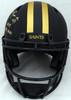 "Alvin Kamara Autographed New Orleans Saints Eclipse Black Full Size Authentic Speed Helmet ""2017 NFL ROY"" (Light Auto) Beckett BAS QR #WJ58346"
