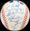 2001 American League All Star Team Autographed Official MLB Baseball With 24 Signatures Including Ichiro Suzuki Rookie Beckett BAS #AA01883
