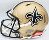 Drew Brees Autographed New Orleans Saints Gold Full Size Authentic Speed Helmet Beckett BAS QR Stock #197043