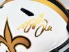Drew Brees Autographed New Orleans Saints Lunar Eclipse White Full Size Authentic Speed Helmet Beckett BAS QR Stock #197044