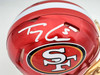 Trey Lance Autographed San Francisco 49ers Flash Red Speed Mini Helmet Beckett BAS QR Stock #197093