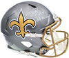 "Drew Brees Autographed New Orleans Saints Flash Silver Full Size Authentic Speed Helmet ""SB XLIV MVP"" Beckett BAS QR Stock #197103"