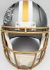 "Drew Brees Autographed New Orleans Saints Flash Silver Full Size Replica Speed Helmet ""SB XLIV MVP"" Beckett BAS QR Stock #197105"