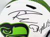 Russell Wilson & DK Metcalf Autographed Seattle Seahawks Lunar Eclipse White Full Size Authentic Speed Helmet Beckett BAS Stock #197199