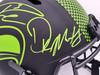 Russell Wilson & DK Metcalf Autographed Seattle Seahawks Eclipse Black Full Size Replica Speed Helmet Beckett BAS Stock #197200