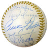 MLB Gold Glove Winners Autographed Gold Glove Baseball With 20 Signatures Including Johnny Bench, Curt Flood & Roberto Alomar PSA/DNA #W06916