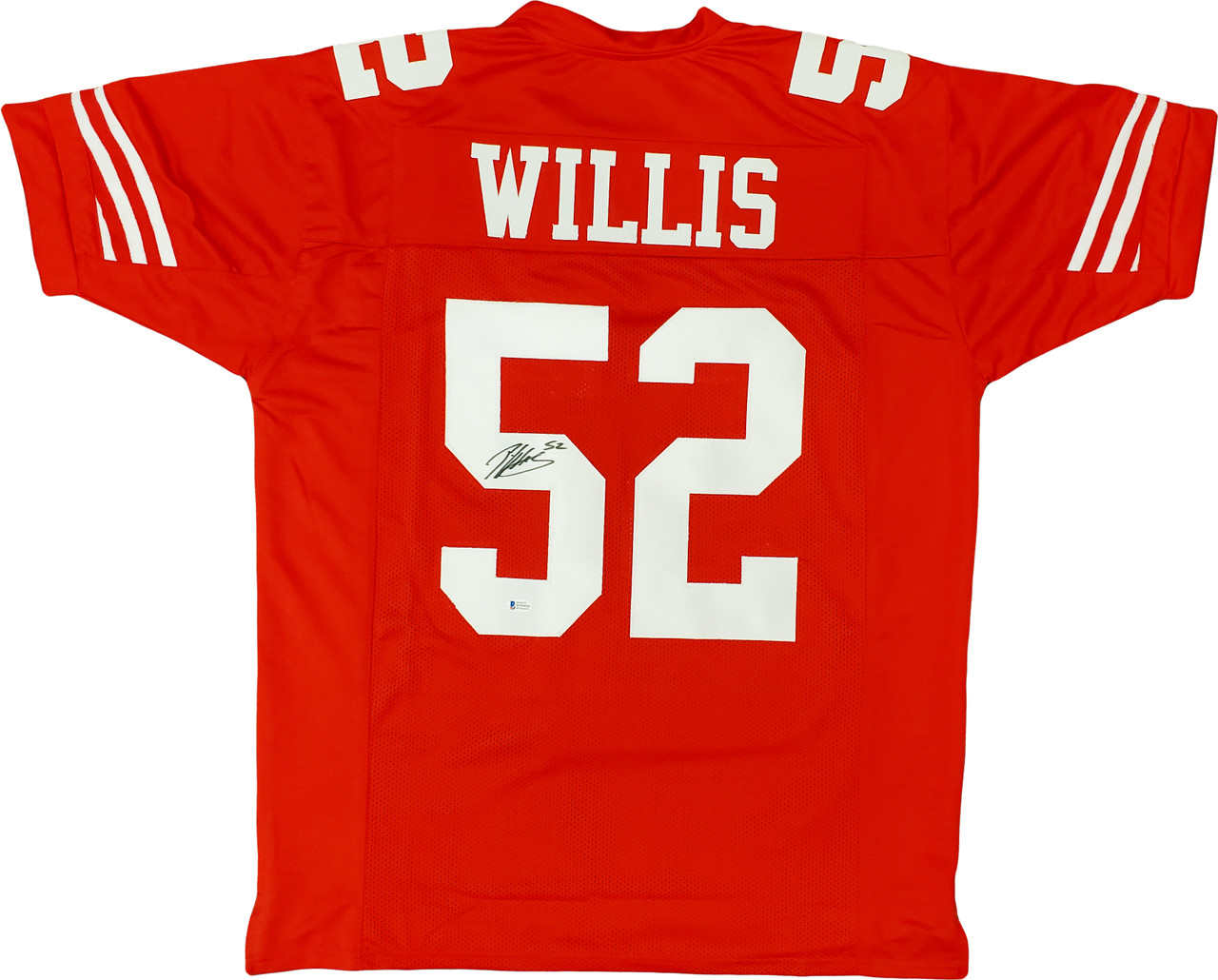 San Francisco 49ers Patrick Willis Autographed Red Jersey Beckett BAS Stock #195263
