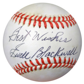 "Ewell Blackwell Autographed NL Baseball Yankees, Reds ""Best Wishes"" PSA/DNA #AA37639"