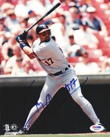 Tony Clark Autographed 8x10 Photo Detroit Tigers PSA/DNA #Q93476