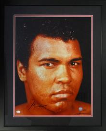 Muhammad Ali Autographed Framed 16x20 Photo PSA/DNA #M09813