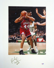 Rick Mahorn Autographed 16x20 Matted Photo Philadelphia 76ers PSA/DNA #AB51614