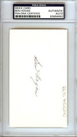 Ben Hogan Autographed 3x5 Index Card PSA/DNA #83894692