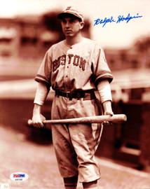 Ralph Hodgin Autographed 8x10 Photo Boston Braves PSA/DNA #AB51590