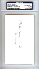 "Muhammad Ali Autographed 3x5 Index Card Vintage ""2-2-90"" PSA/DNA #83845844"