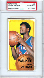 Jimmy Walker Autographed 1970 Topps Card #25 Detroit Pistons PSA/DNA #25816851