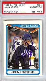 John Kordic Autographed 1990 O-Pee-Chee Card #401 Toronto Maple Leafs PSA/DNA #25817462