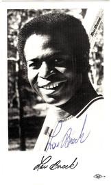 Lou Brock Autographed 3.5x5.5 Postcard St. Louis Cardinals SKU #106110