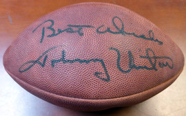 """Johnny Unitas Autographed NFL Football Baltimore Colts """"Best Wishes"""" PSA/DNA #AB04605"""