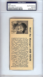 Red Rolfe Autographed 2x4.5 Newspaper Page Photo New York Yankees, Detroit Tigers PSA/DNA #83908572
