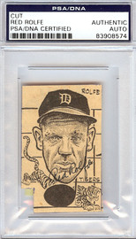 Red Rolfe Autographed 2x2.5 Newspaper Page Photo Detroit Tigers PSA/DNA #83908574