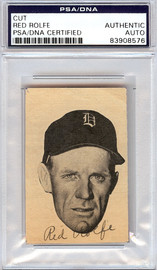 Red Rolfe Autographed 2x3 Newspaper Page Photo Detroit Tigers PSA/DNA #83908576