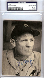Red Rolfe Autographed 3.5x5 Newspaper Page Photo Detroit Tigers PSA/DNA #83908584