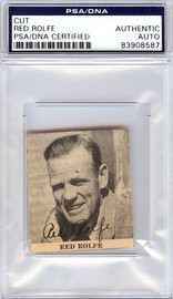 Red Rolfe Autographed 2x2 Newspaper Page Photo Yankees, Tigers PSA/DNA #83908587
