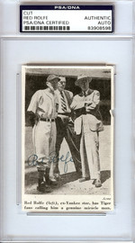 Red Rolfe Autographed 2.5x4 Newspaper Page Photo Detroit Tigers PSA/DNA #83908598