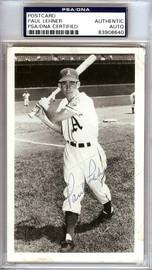 Paul Lehner Autographed 3.5x5.5 Postcard Philadelphia A's PSA/DNA #83908640