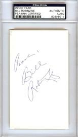 "Bill Robinzine Autographed 3x5 Index Card Kansas City Kings, DePaul Blue Demons ""Peace"" PSA/DNA #83906017"