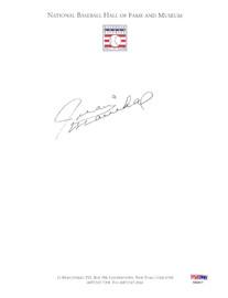 Juan Marichal Autographed 8.5x11 Page Photo San Francisco Giants PSA/DNA #AB50577