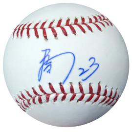 Nori Aoki Autographed Official MLB Baseball In Kanji Seattle Mariners PSA/DNA #AB49714