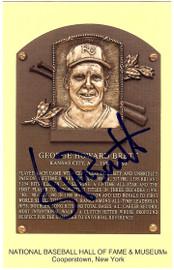 George Brett Autographed HOF Postcard Kansas City Royals JSA #M36042