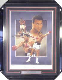 Muhammad Ali Autographed Framed 18x24 Lithograph Photo Auto Grade 10 PSA/DNA #B27065