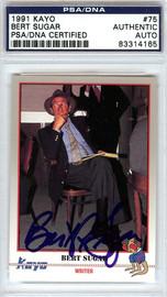 Bert Sugar Autographed 1991 Kayo Card #75 PSA/DNA #83314165
