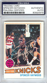 Spencer Haywood Autographed 1977 Topps Card #88 New York Knicks PSA/DNA #83920979