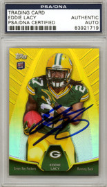 Eddie Lacy Autographed 2013 Topps Rookie Card #MBC-EL Green Bay Packers PSA/DNA #83921719